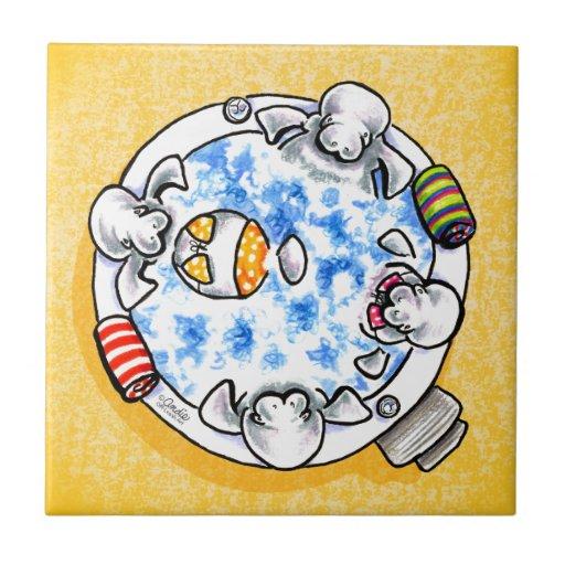 Fora-Trela Art™ do divertimento da banheira de hid Azulejo