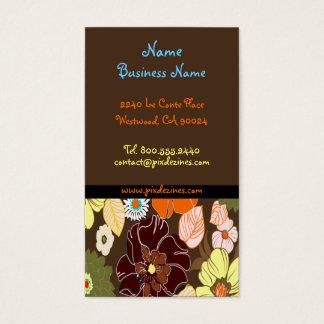 Foral retro do alegre de PixDezines, fundo de DIY Cartão De Visitas
