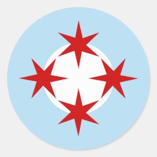 Força aérea de Chicago asa da bomba Roundel Adesivos Em Formato Redondos