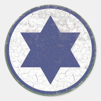 Força aérea israelita Roundel da estrela azul Adesivo