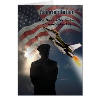 Força aérea que comissão o cartão das felicitações