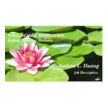 Força sereno/lagoa cor-de-rosa Lotus Modelo Cartao De Visita