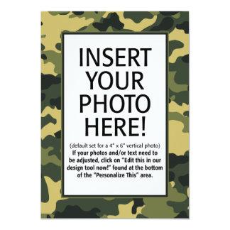 forças armadas/camuflagem - convite do aniversário