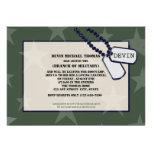 Forças armadas que vão afastado estrelas verdes do convite personalizados