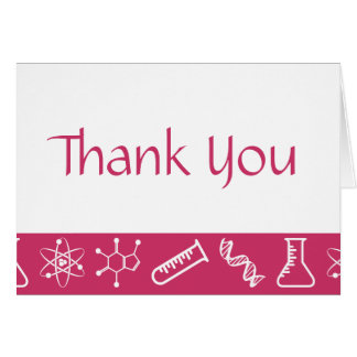 Forças atrativas em cartões de agradecimentos da