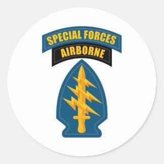 Forças especiais transportadas por via aérea adesivo redondo