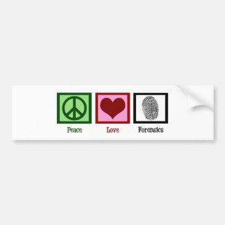 Forense do amor da paz adesivo para carro