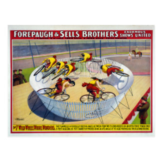 Forepaugh e poster do circo do vintage das vendas cartão postal