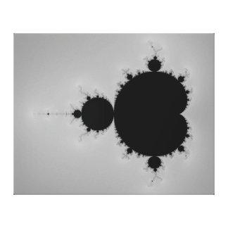 Forma ajustada do Fractal de Mandelbrot Impressão De Canvas Envolvidas