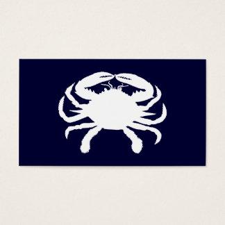 Forma azul e branca do caranguejo cartão de visitas