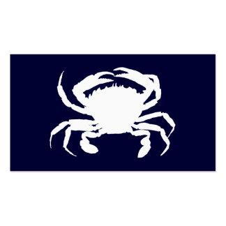 Forma azul escuro e branca do caranguejo modelo de cartões de visita