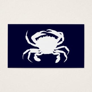 Forma azul escuro e branca do caranguejo cartão de visitas