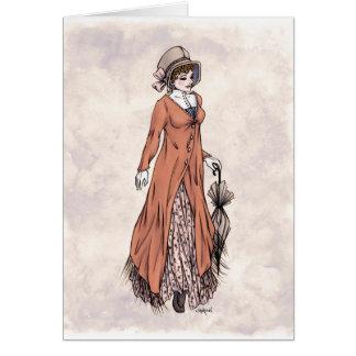 Forma da regência - senhora #2 - cartão da arte