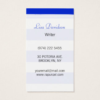 Forma das listras azuis cartão de visitas