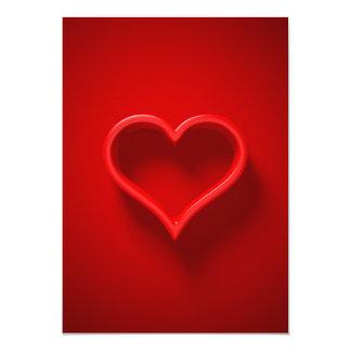 forma de cardíaco com luzir e sombra - convite