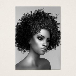 Forma do Afro elegante Cartão De Visitas