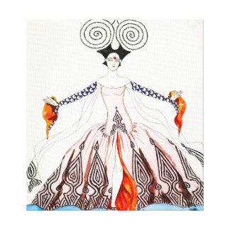 Forma do art deco de Georges Barbier Impressão Em Tela