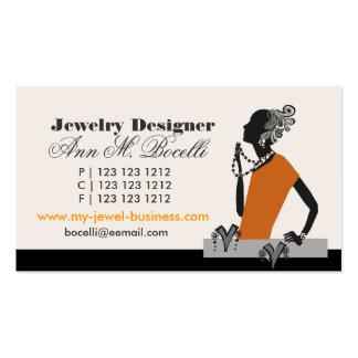 Forma do artista da miçanga e da jóia das mulheres cartão de visita