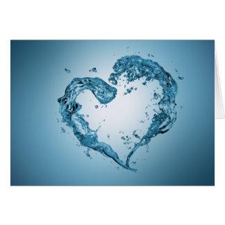 Forma do coração da água - cartão