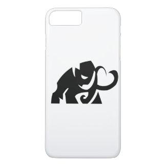 forma do elefante do vetor mim capa de telefone