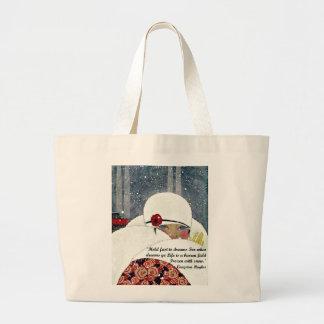 Forma do inverno do vintage bolsa para compras