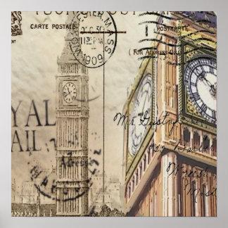 forma do vintage de ben grande do marco de Londres Pôster