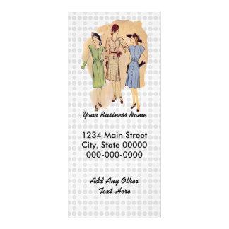 Forma dos anos 40 do vintage 10.16 x 22.86cm panfleto