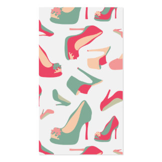 Forma dos calçados cartão de visita