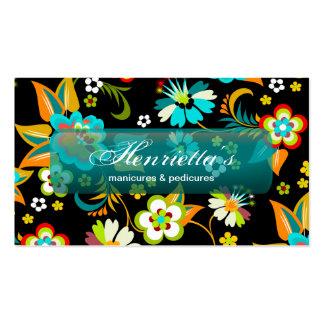 Forma floral retro feminino legal bonito fina cartão de visita