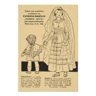 Forma francesa retro damas de honra 1931 poster