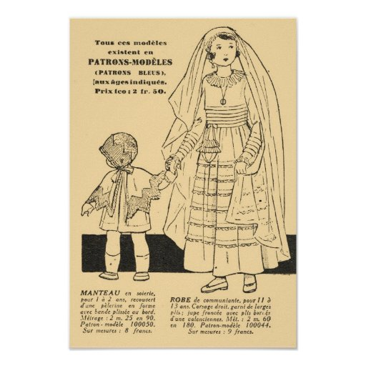 Forma francesa retro, damas de honra 1931 poster