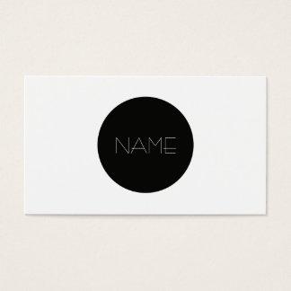Forma minimalista cartão de visitas