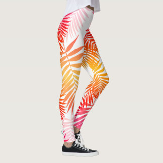 Forma na moda do verão da folha adolescente da legging