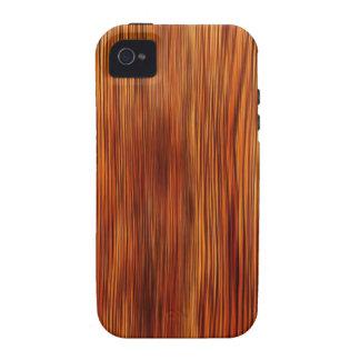 Forma natural do estilo da textura de Brown da mob Capinhas iPhone 4/4S