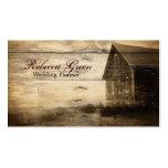 forma ocidental do país da casa da quinta do woodg cartões de visita