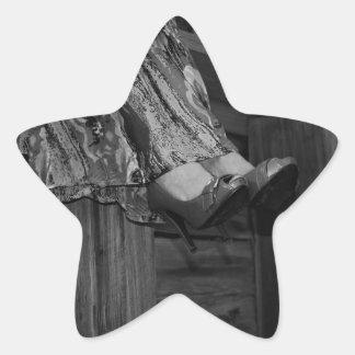Forma preto e branco adesito estrela