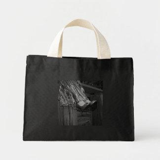 Forma preto e branco bolsa tote mini