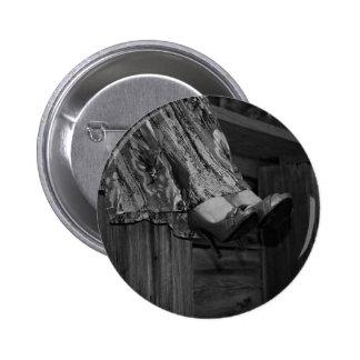 Forma preto e branco bóton redondo 5.08cm