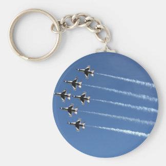 Formação do delta dos Thunderbirds F-16 Chaveiros