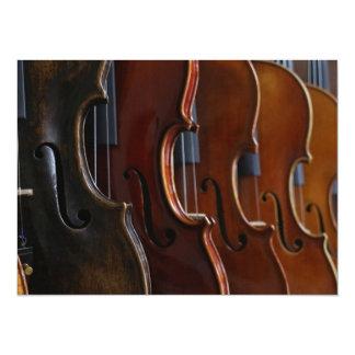 Formação do violino convite 13.97 x 19.05cm