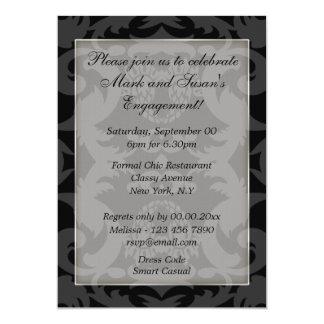Formais de prata brancos pretos PERSONALIZAM Convite 12.7 X 17.78cm