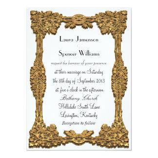 Formal branco da simplicidade convite 13.97 x 19.05cm