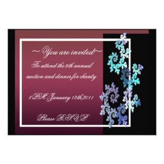 formal vermelho & preto convites personalizados