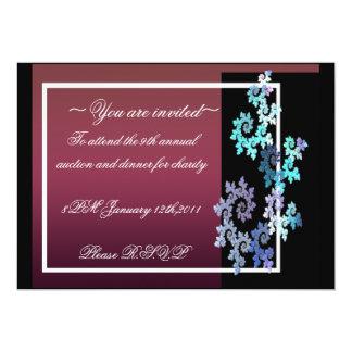 formal vermelho & preto convite 12.7 x 17.78cm