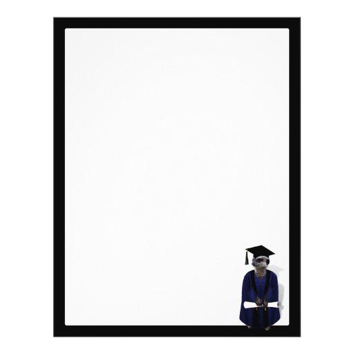 Formando de Meerkat (com a faixa azul do vestido w Panfleto Personalizados