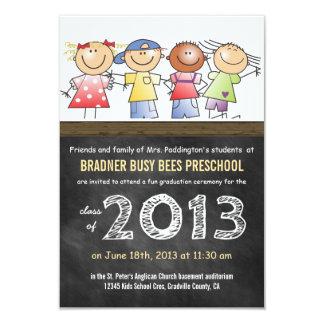 Formando do pré-escolar ou do quadro da classe do convite 8.89 x 12.7cm