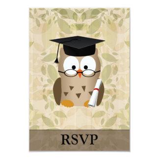 Formando sábio bonito da coruja convite personalizados