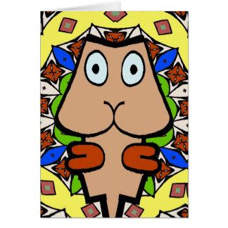 Formas abstratas da cabeça do Cubism Cartão Comemorativo