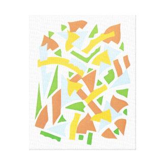 Formas geométricas do jazz de Pochoir do art deco Impressão Em Tela