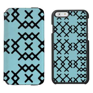 Formas geométricas do nómada azul tribal do capa carteira incipio watson™ para iPhone 6
